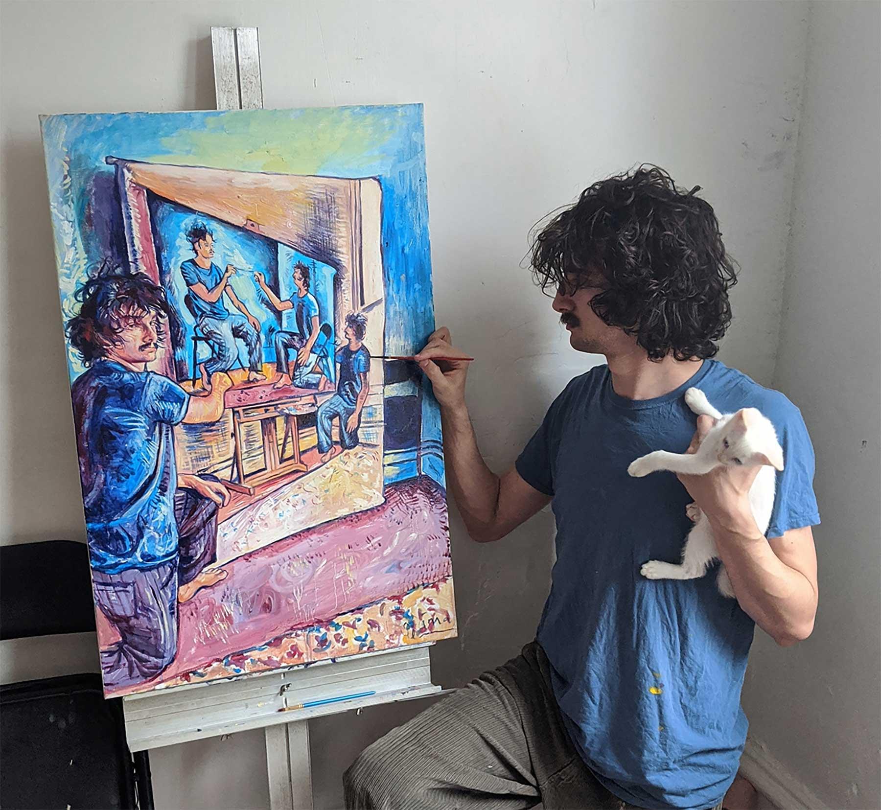 Seamus Wray malt sich, wie er sich malt, wie er sich malt, wie …