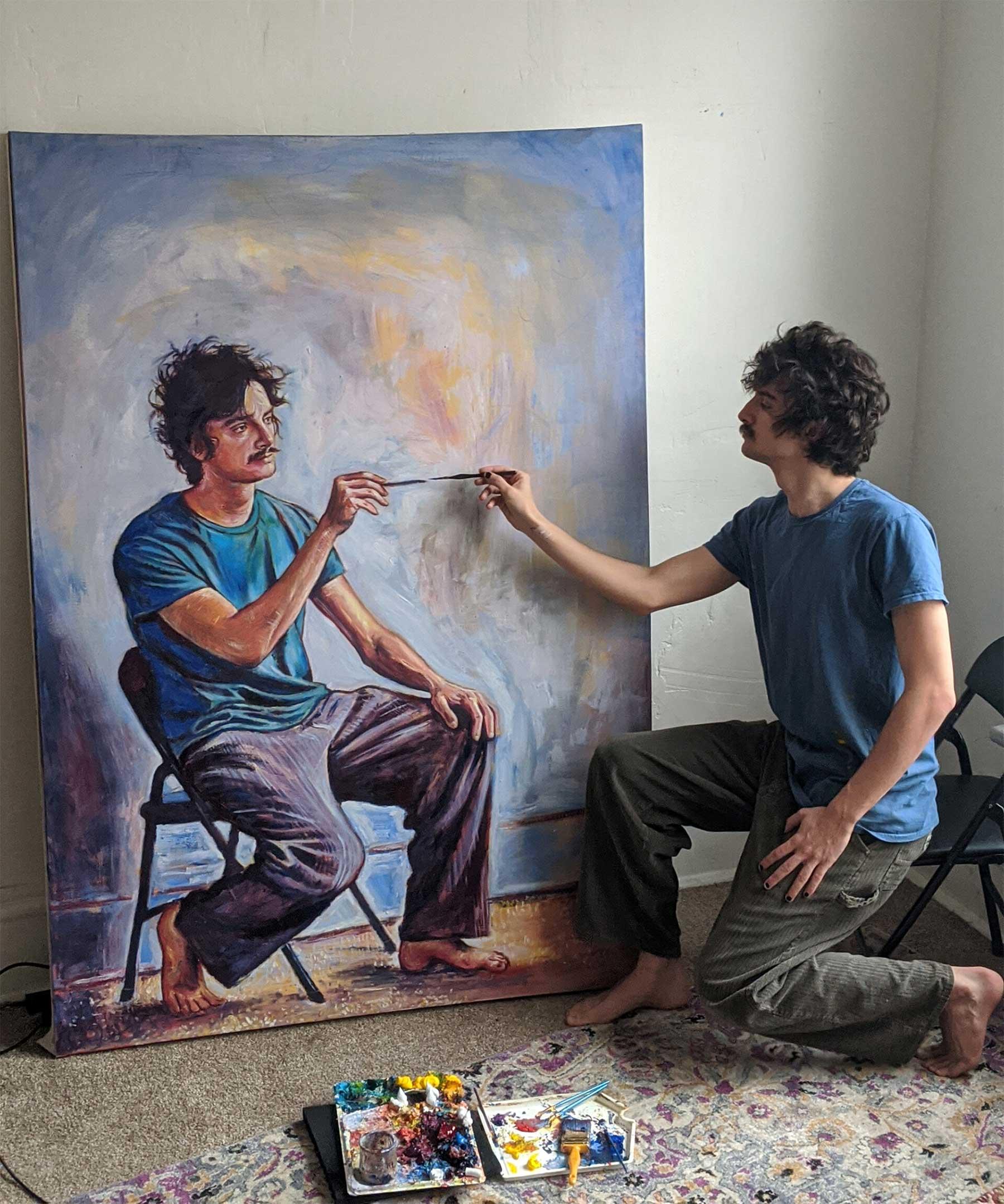 Seamus Wray malt sich, wie er sich malt, wie er sich malt, wie ... Seamus-Wray-self-portrait-meta-levels_02