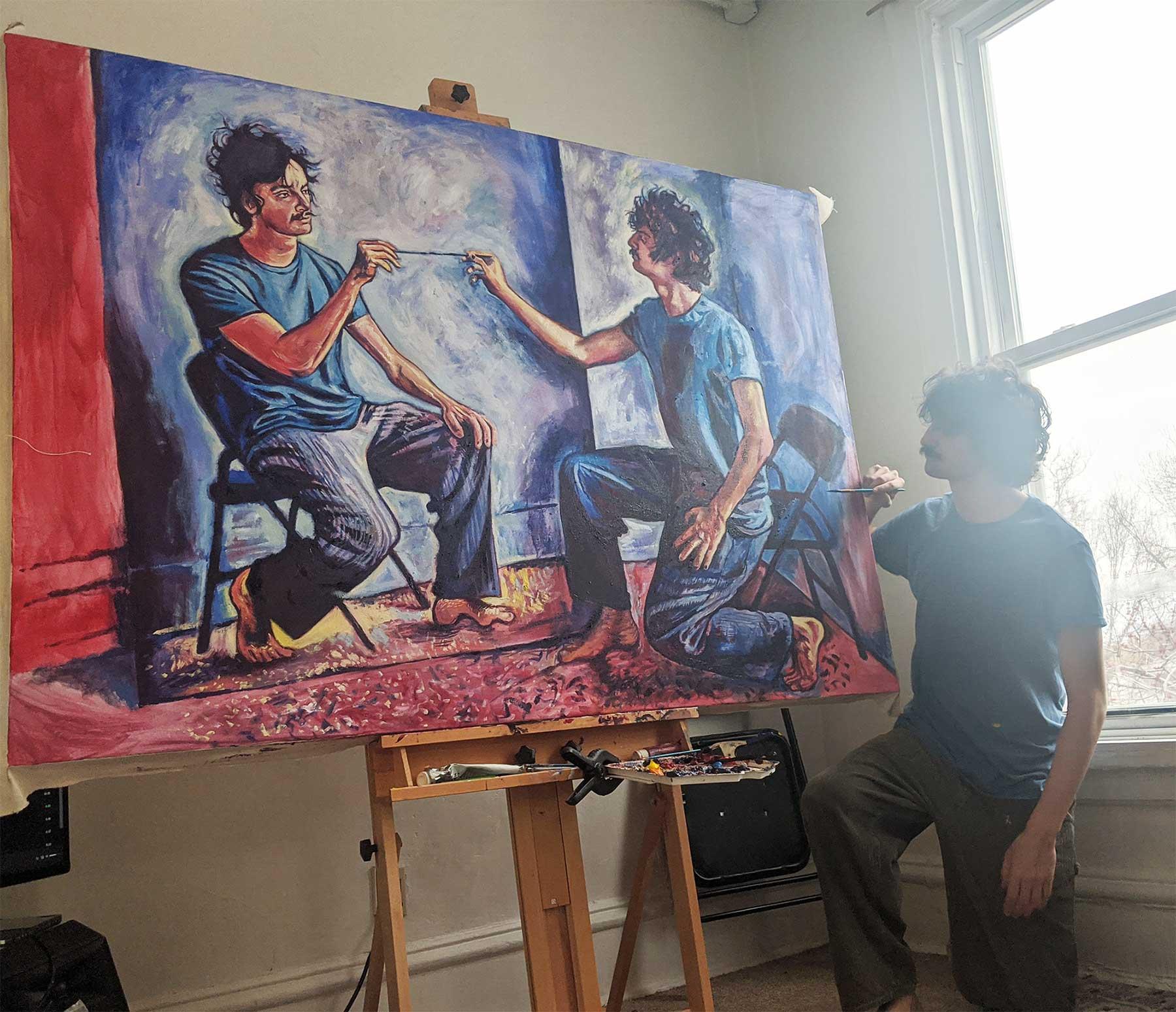 Seamus Wray malt sich, wie er sich malt, wie er sich malt, wie ... Seamus-Wray-self-portrait-meta-levels_03