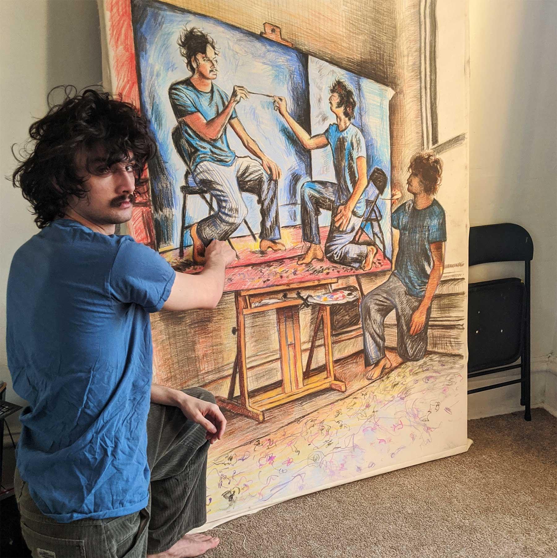 Seamus Wray malt sich, wie er sich malt, wie er sich malt, wie ... Seamus-Wray-self-portrait-meta-levels_04