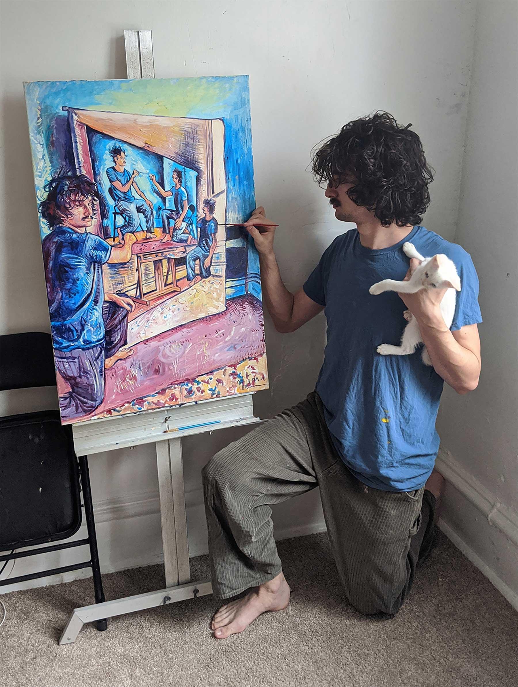 Seamus Wray malt sich, wie er sich malt, wie er sich malt, wie ... Seamus-Wray-self-portrait-meta-levels_05
