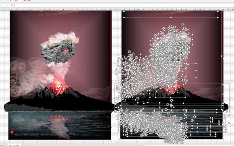 80-jähriger Tatsuo Horiuchi malt Bilder in Excel