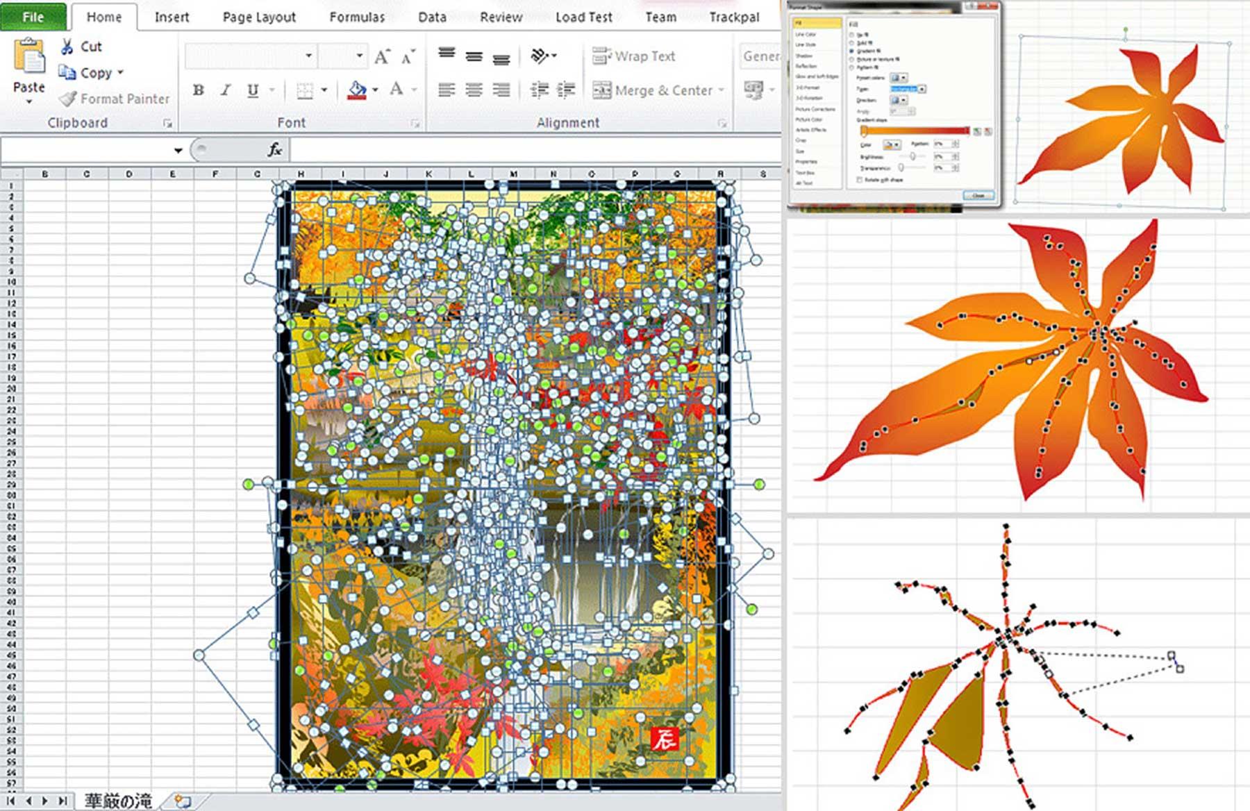 80-jähriger Tatsuo Horiuchi malt Bilder in Excel Tatsuo-Horiuchi-malen-in-excel_02