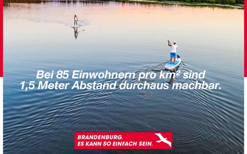 Social Distancing gibt es in Brandenburg schon von Natur aus