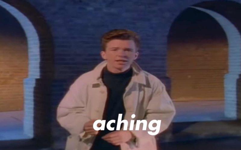 """""""Never Gonna Give You Up"""" in alphabetischer Reihenfolge gesungen"""