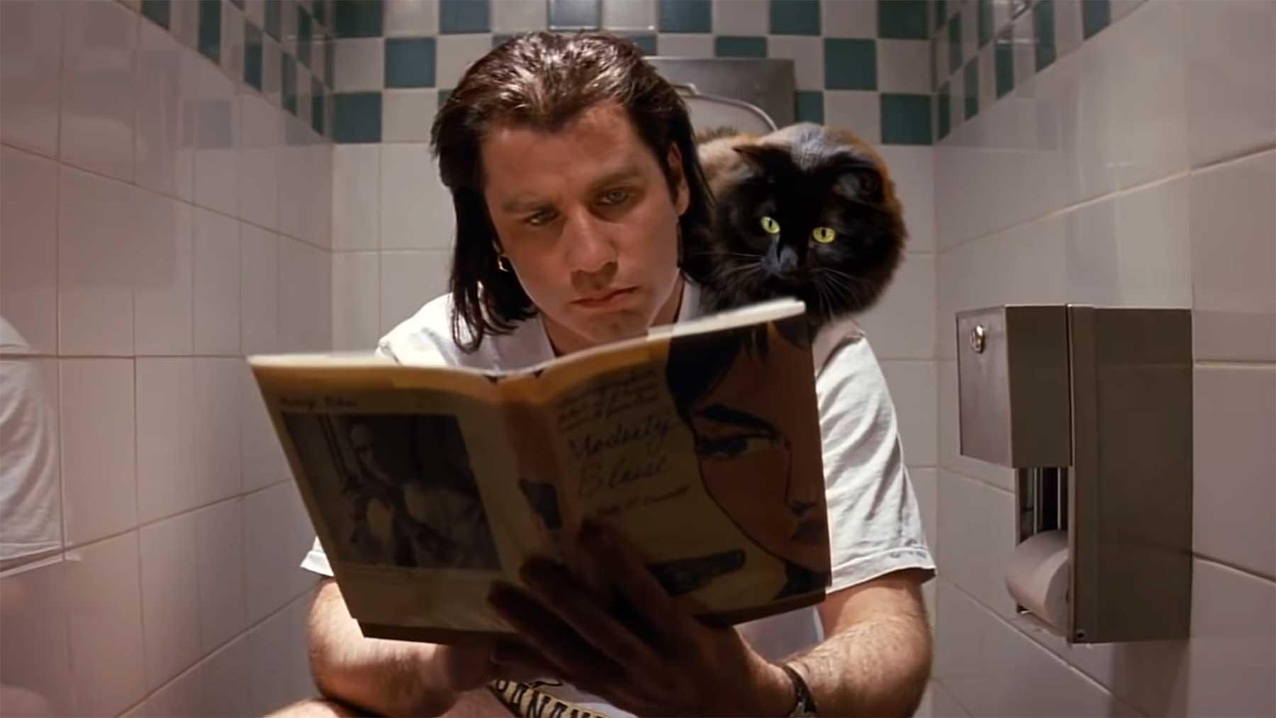 """Wenn eine Katze in """"Pulp Fiction"""" mitspielen würde owlkitty-in-pulp-fiction"""