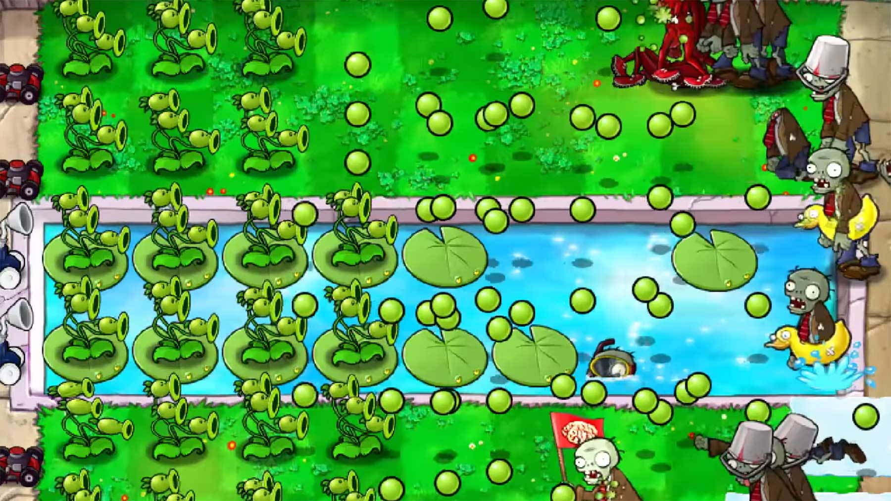 """Kann man """"Plants Vs. Zombies"""" mit nur 2 Pflanzen pro Level schaffen?"""