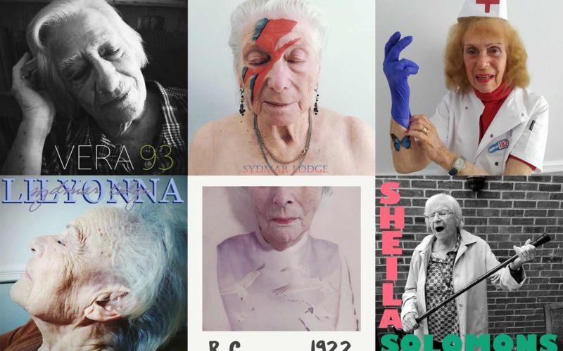 Altenheim stellt ikonische Albumcover nach