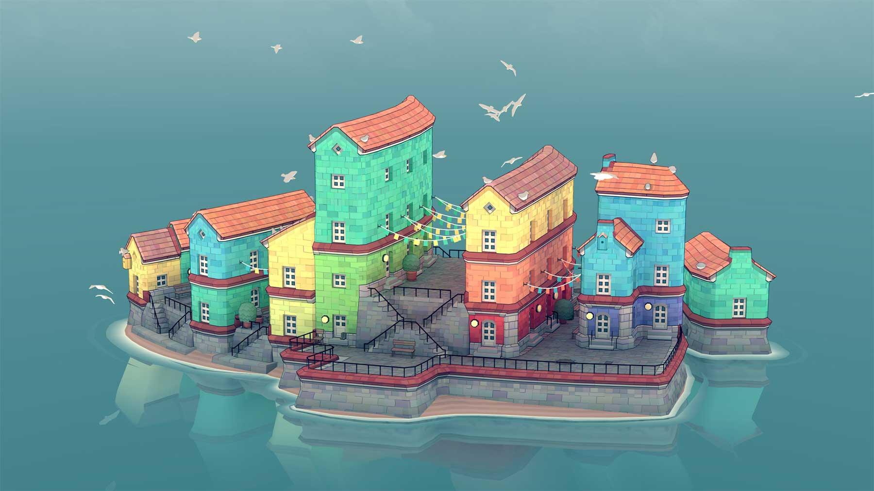 """Mal dir deine Wasserstadt in """"Townscaper"""" townscaper-early-access-gameplay"""