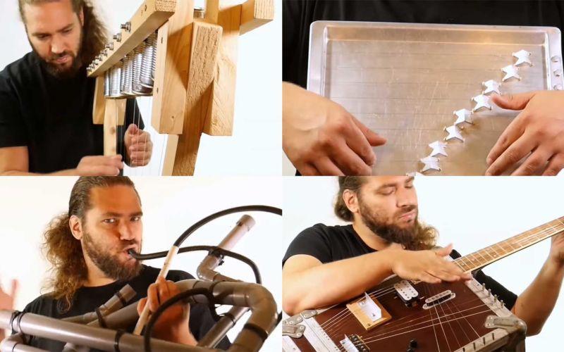 72 selbstgebaute Instrumente