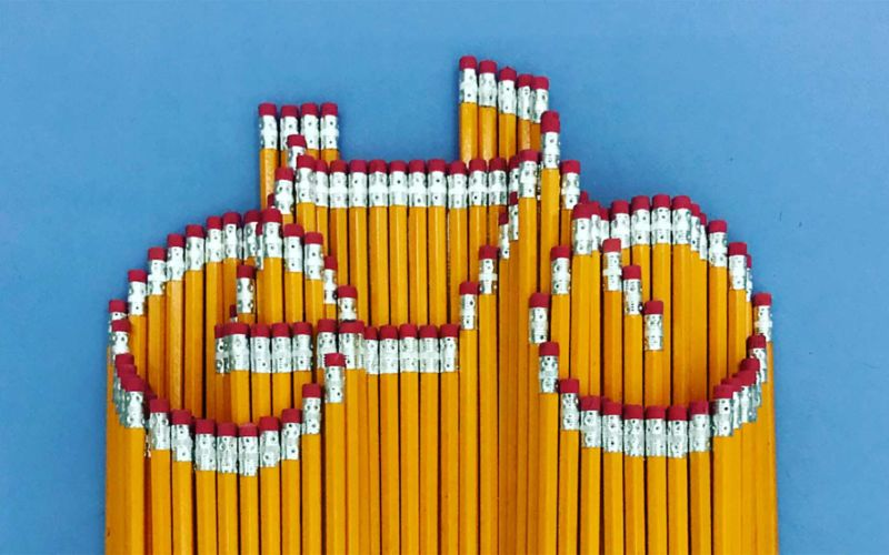 Bleistift-Mosaike von Bashir Sultani