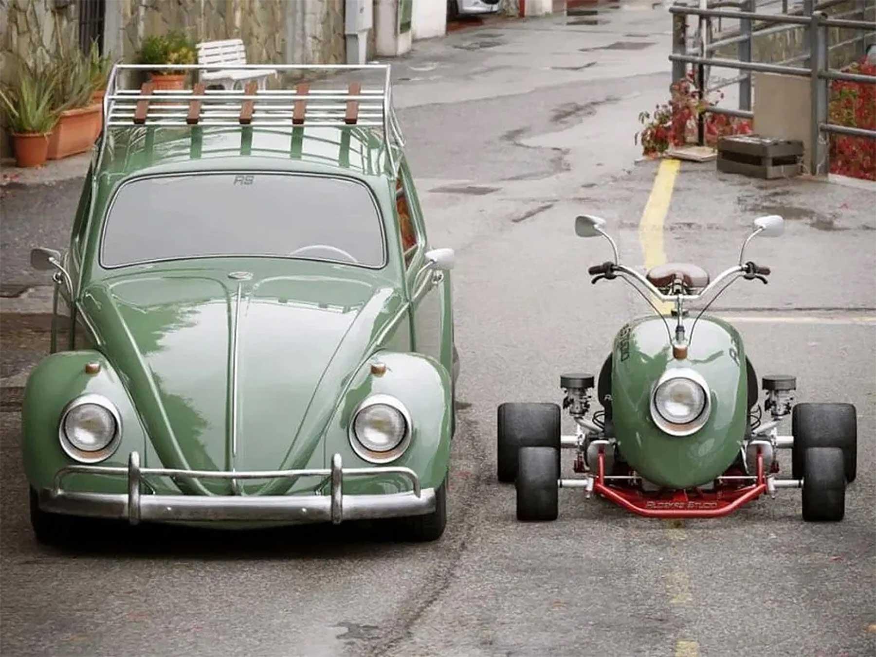 Go-Kart aus dem Kotflügel eines VW Käfers