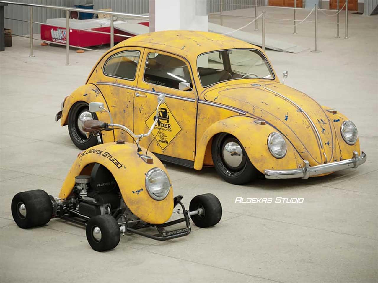 Go-Kart aus dem Kotflügel eines VW Käfers Bugkart-Wasowski-vw-beetle-kart_07