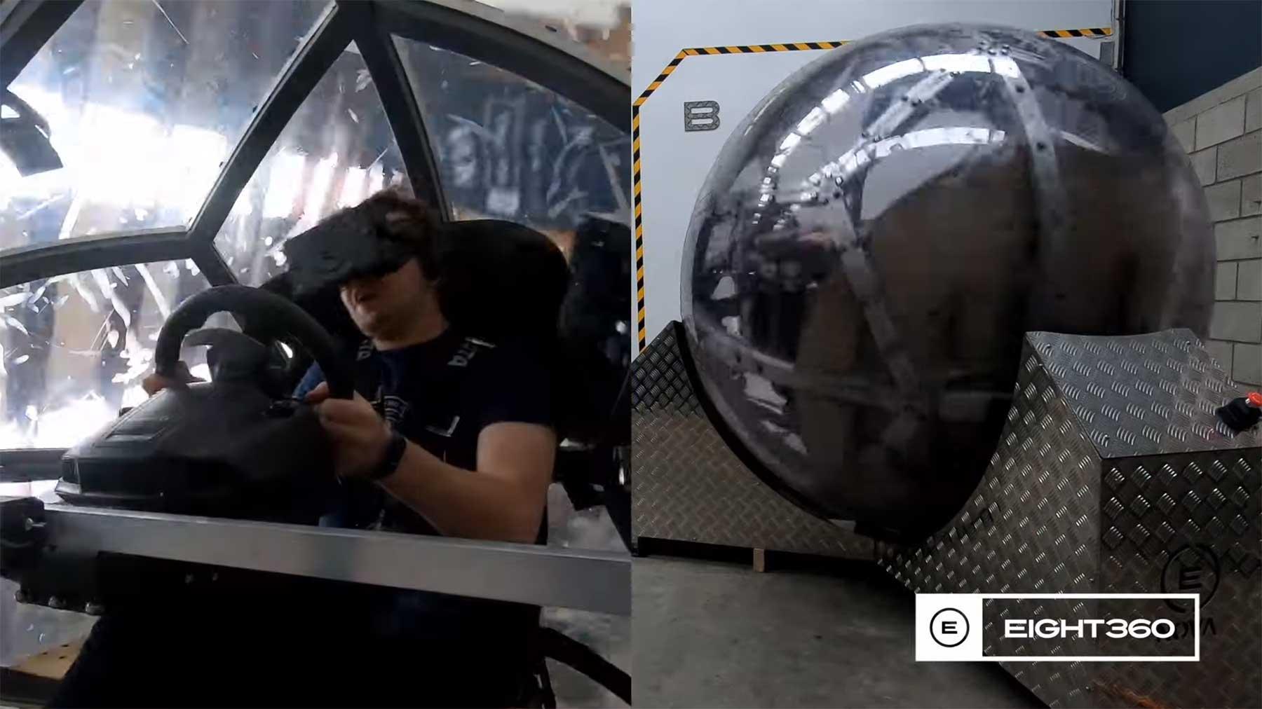 Diese Kugel bewegt euch analog zur VR-Welt