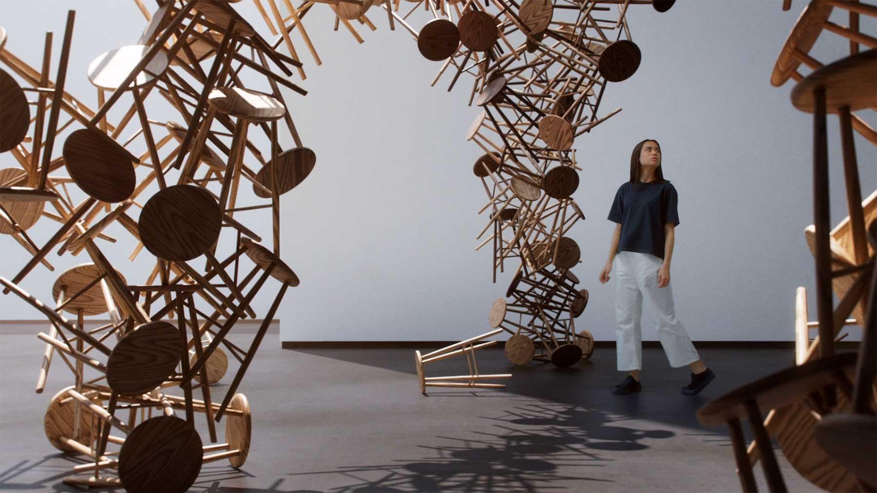 """Museum Skurriler Gegenstands-Deformationen: """"Fork"""""""