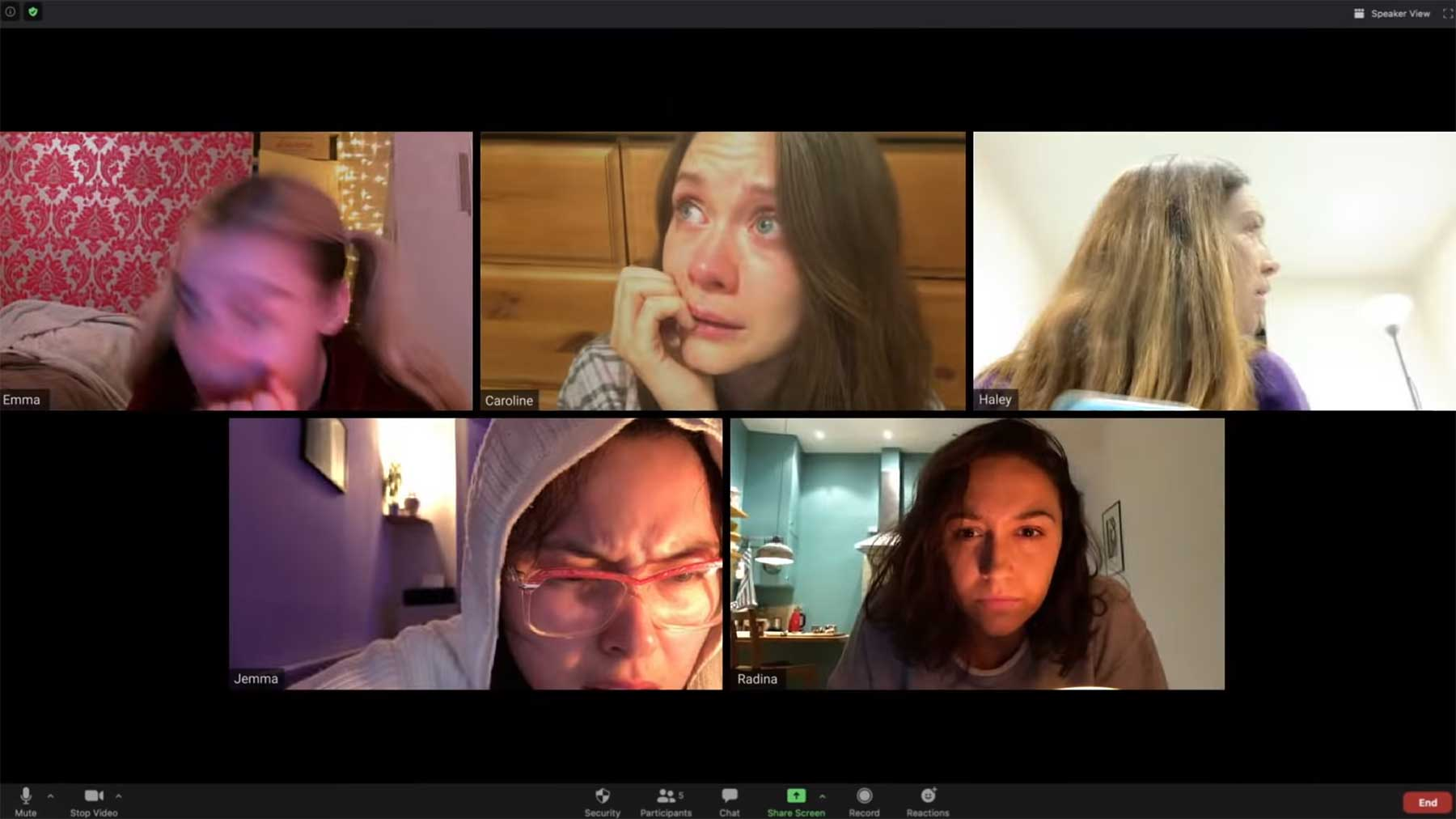 """Der Horrorfilm """"Host"""" wurde komplett im Videochat-Tool Zoom gedreht"""