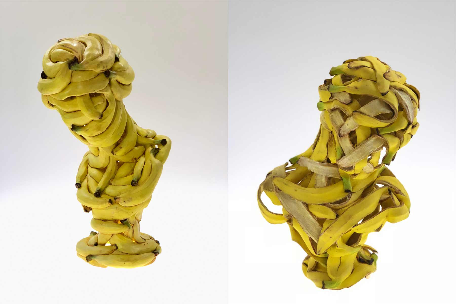 Bananen-Skulpturen von Koji Kasatani