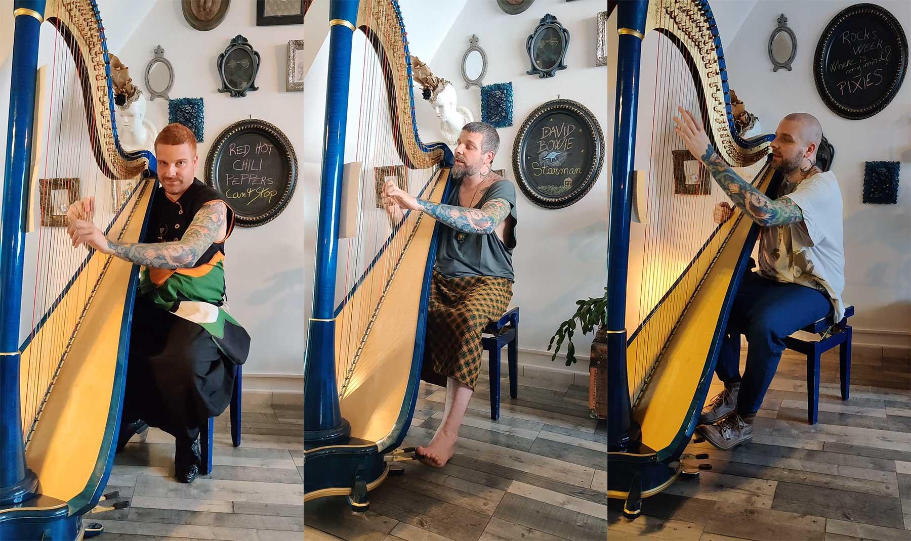 Maël Isaac spielt Rock-Klassiker auf der Harfe