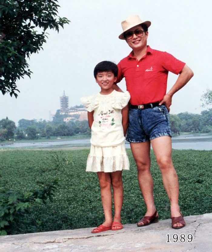 Vater und Tochter machen seit 1980 jährlich ein Foto am gleichen Ort Vater-Tochter-40-Jahre-portraits-gleicher-ort_Hua-Yunqing_10