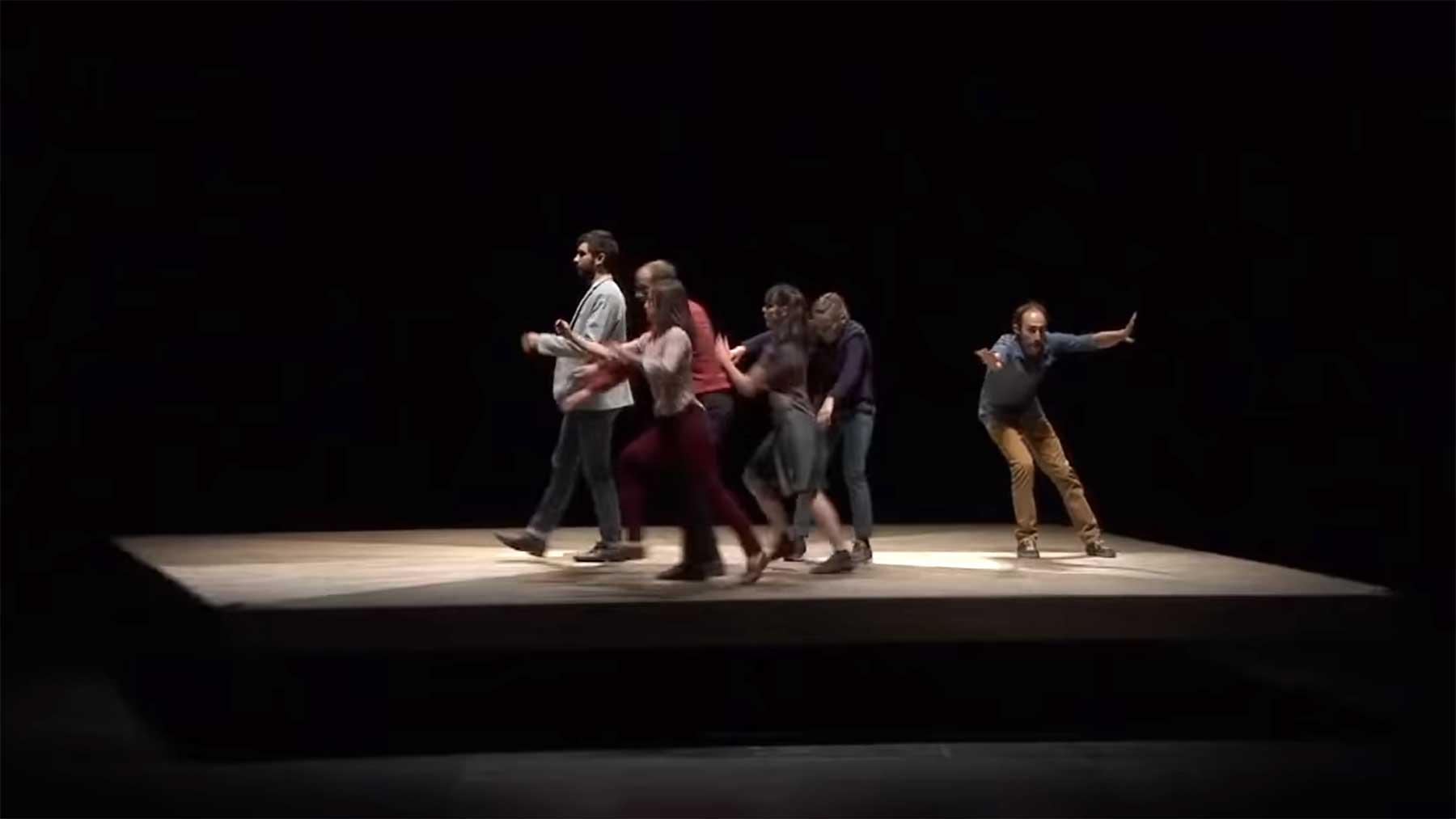 Choreographie auf Drehscheibe