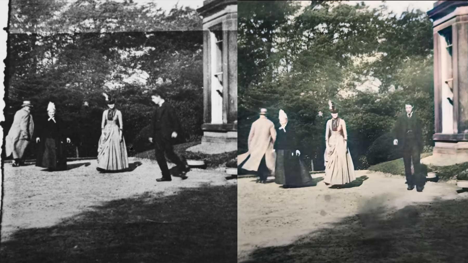 Älteste Videoaufnahme der Welt (1888) restauriert