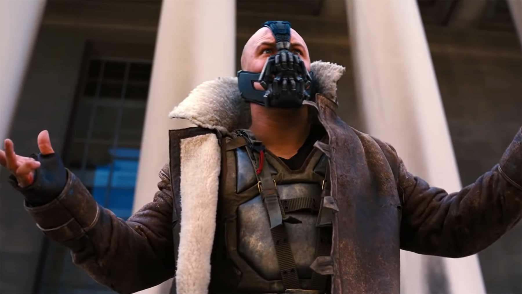 Bösewicht BANE fordert euch auf, eine Mund-Nase-Maske zu tragen!