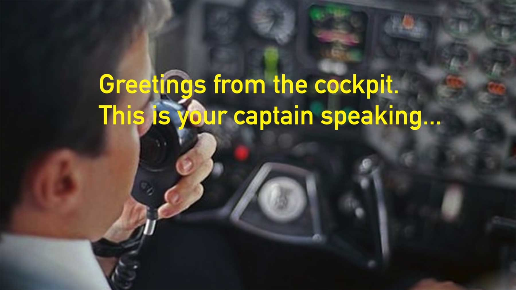 Wenn Sicherheits-Ansagen im Flugzeug ehrlich wären