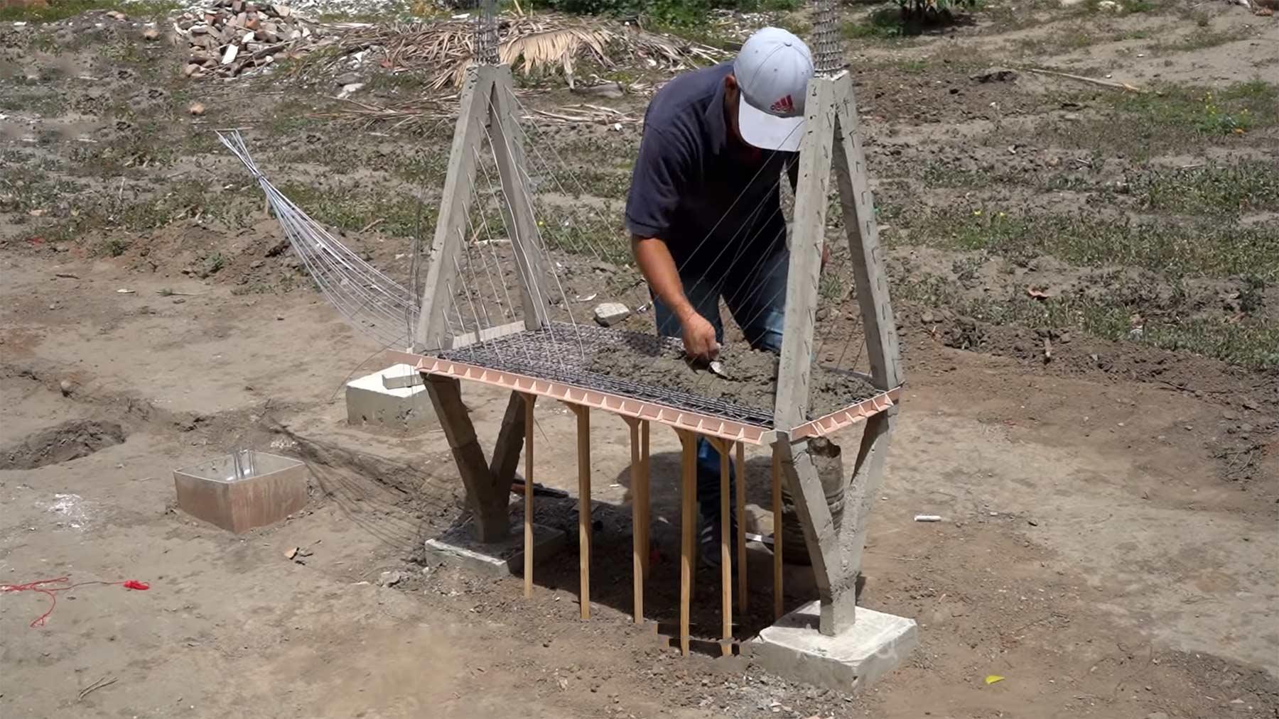 Miniaturbrückenbau