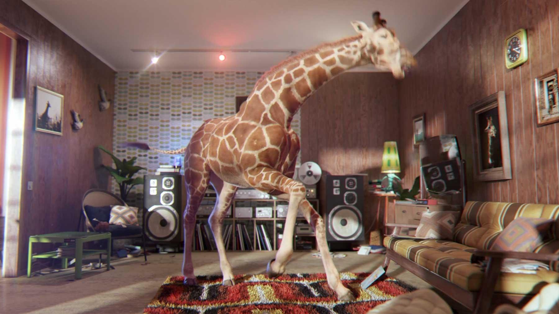 Die abrockende Giraffe