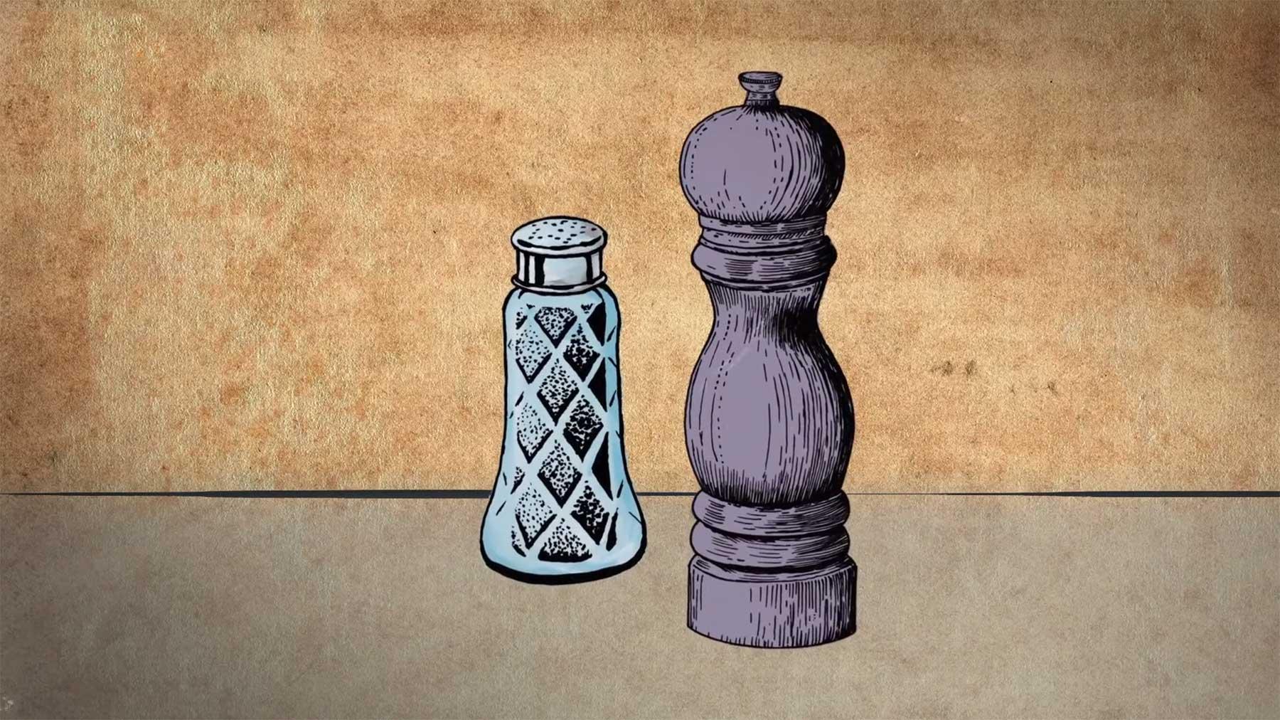 Die Geschichte von Salz und Pfeffer als Gewürzpaar