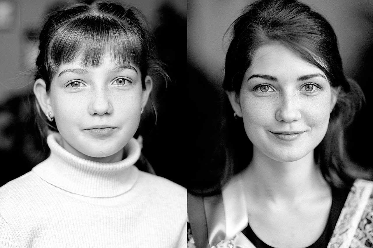 6,5 Jahre Älterwerden in zwei Portraits