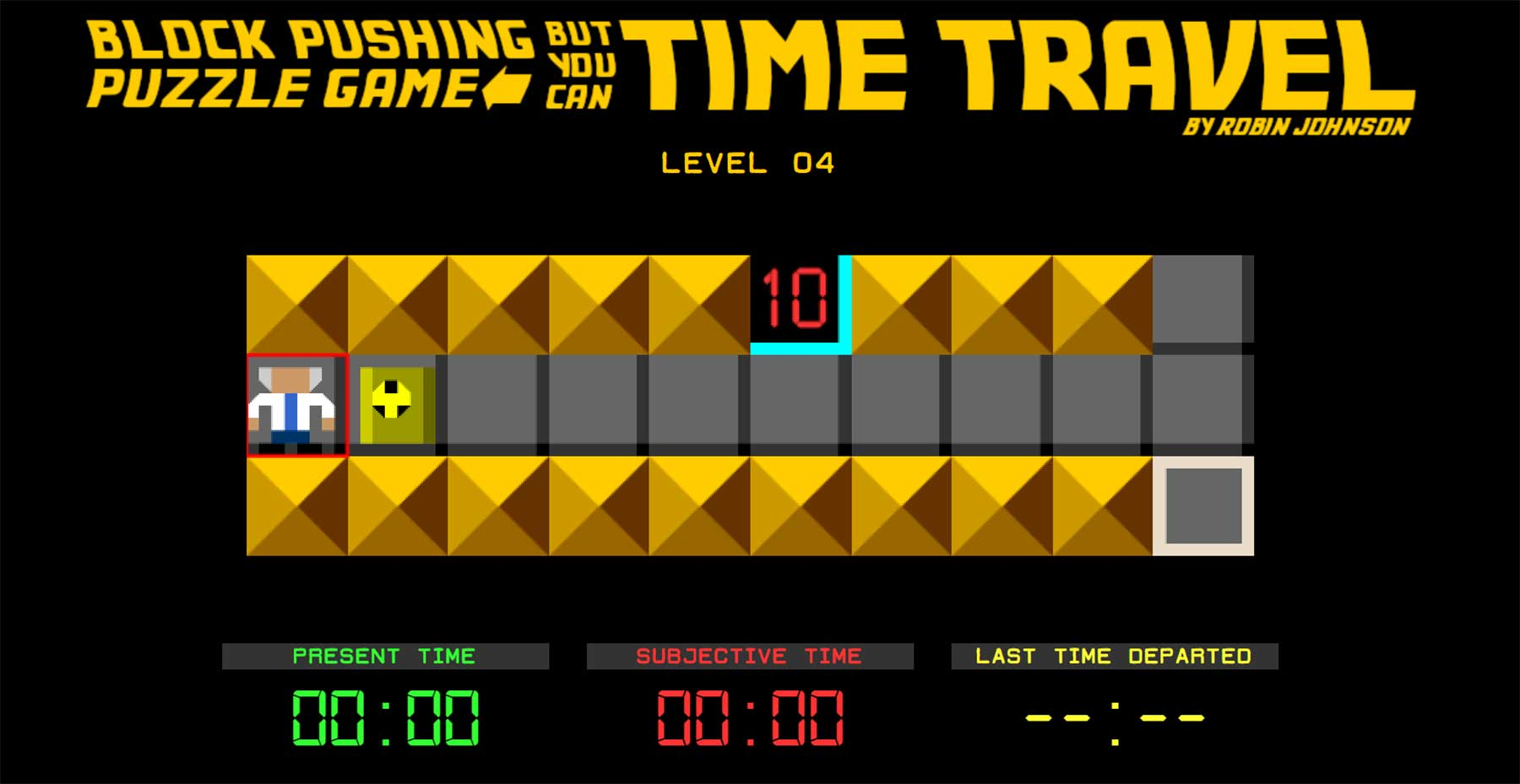 """Block Pushing Puzzle Game But You Can Time Travel"""