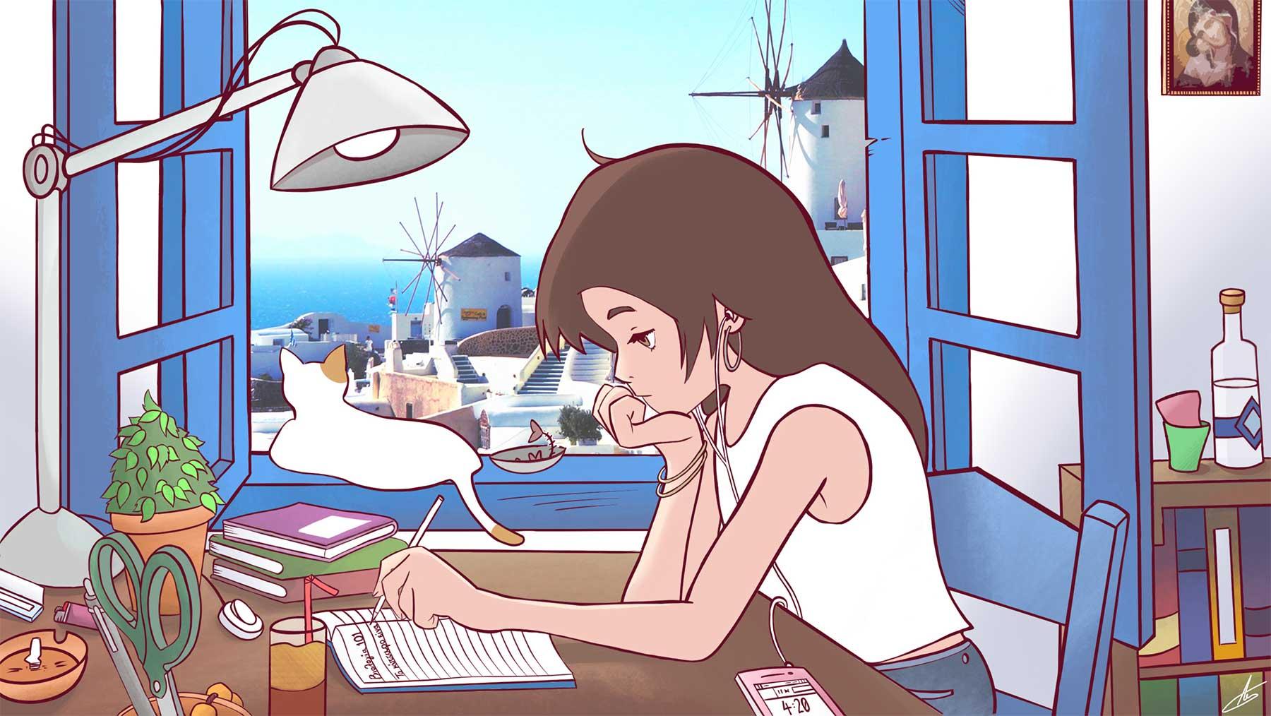 """""""Lo-Fi Study Girl"""" mit landesspezifischen Anpassungen Internationale-lo-fi-study-girl-adaptionen_11"""