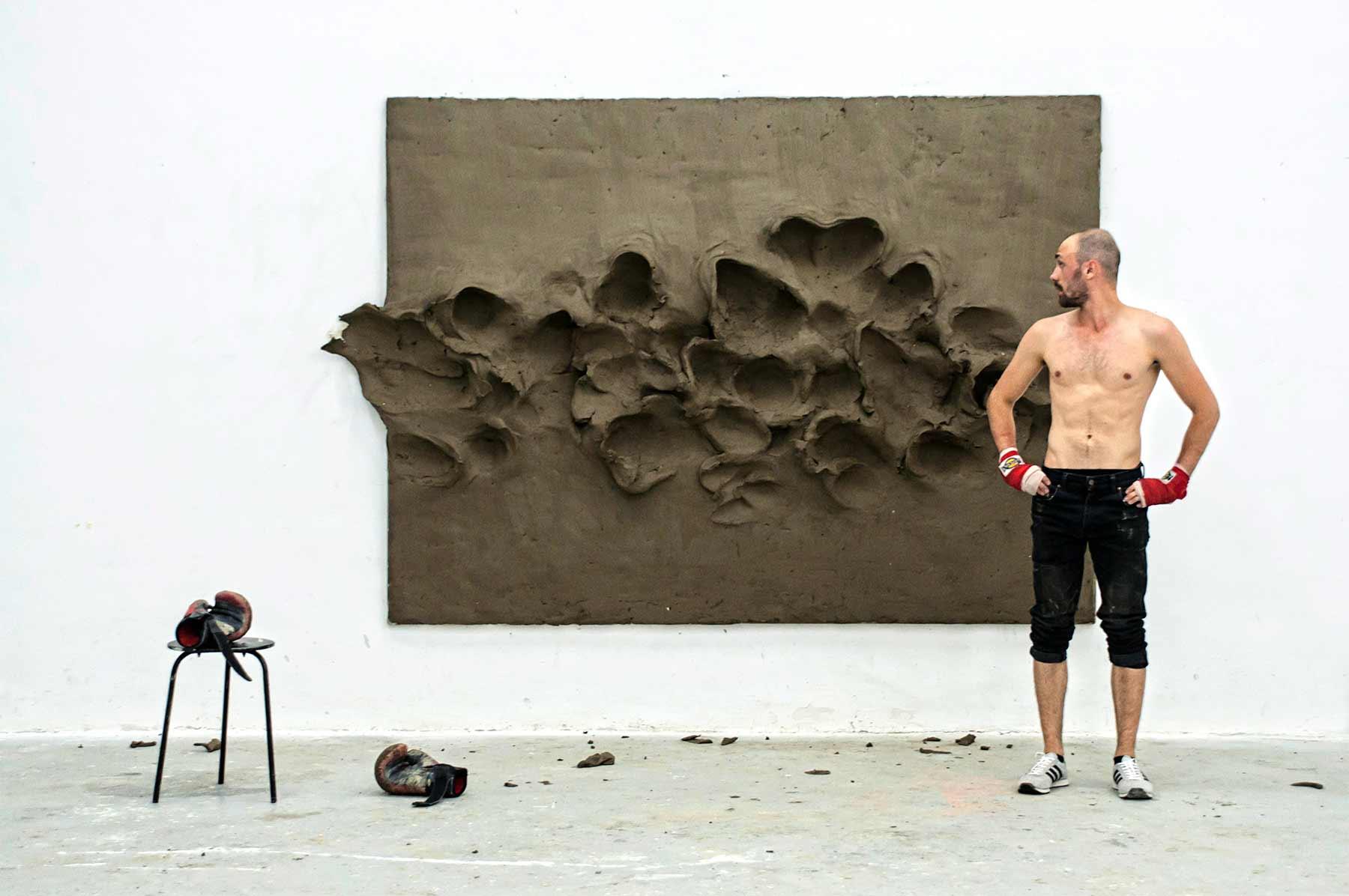 Szilard Gaspar, der boxender Künstler