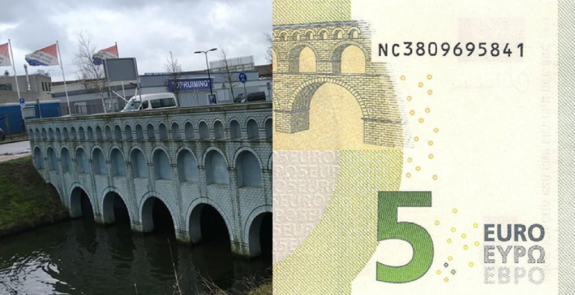 Robin Stam hat die Brücken von den Euro-Scheinen nachgebaut