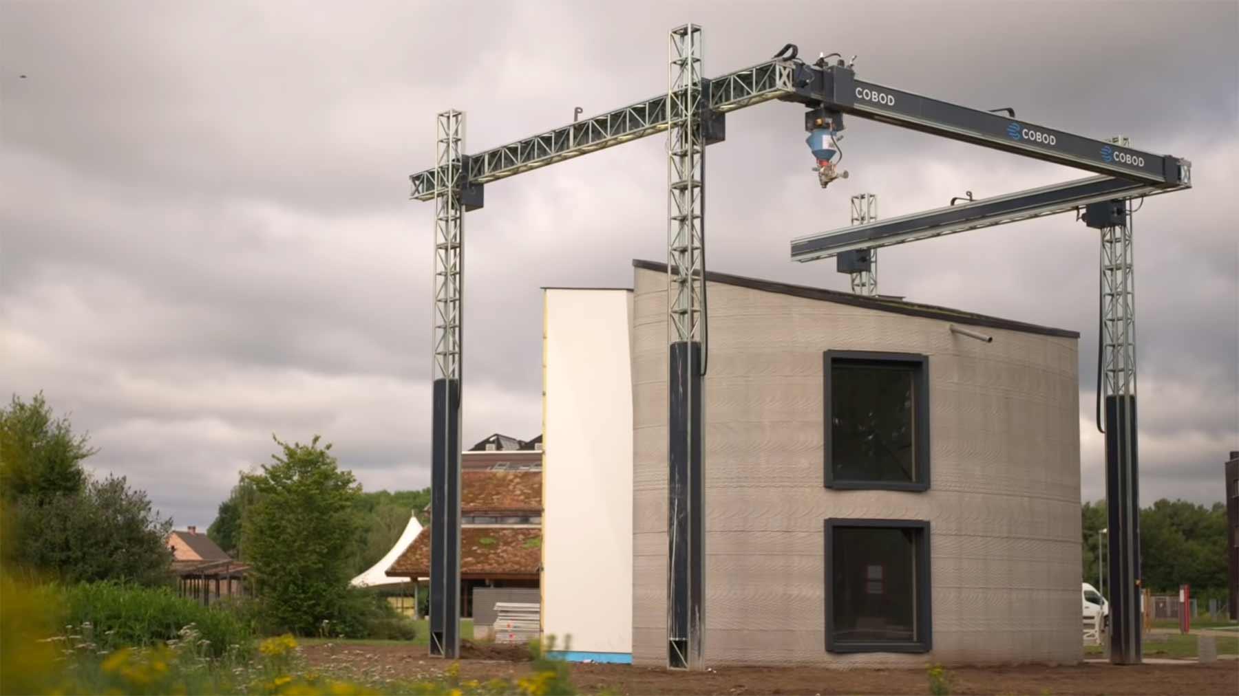 Beton-Haus aus dem 3D-Drucker