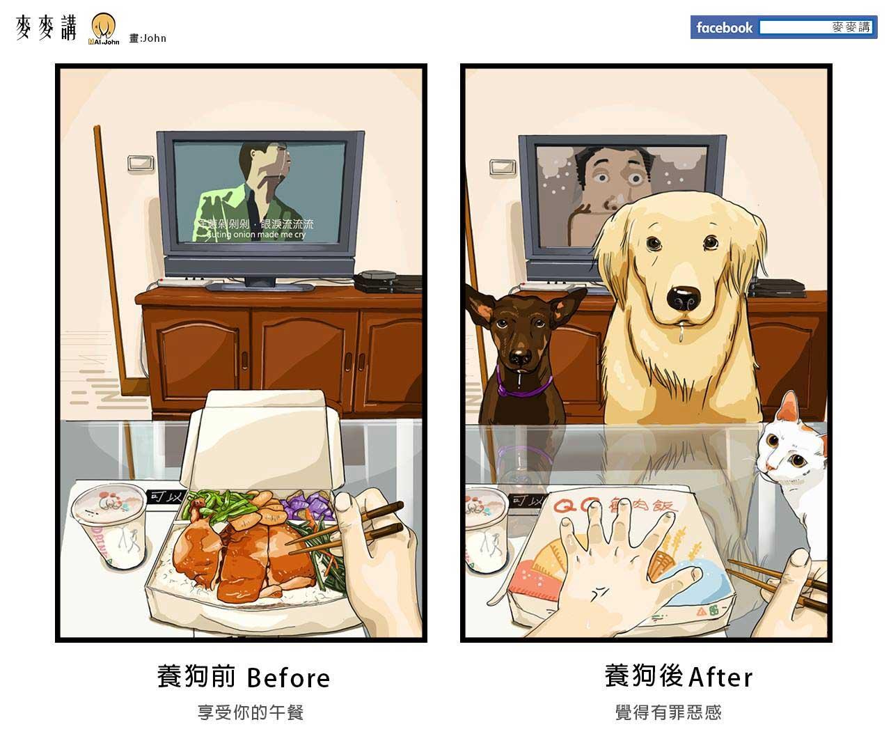 Das Leben vor und nach dem Anschaffen von Haustieren maijohn-life-with-pets_02