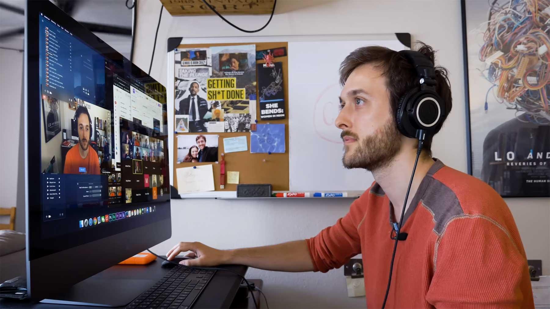 Videokonferenzen mit vorherigen Aufnahmen bestreiten