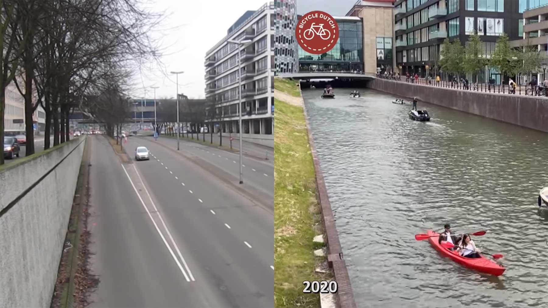 Untergehungsstraße in Utrecht wurde zum Kanal umgewandelt