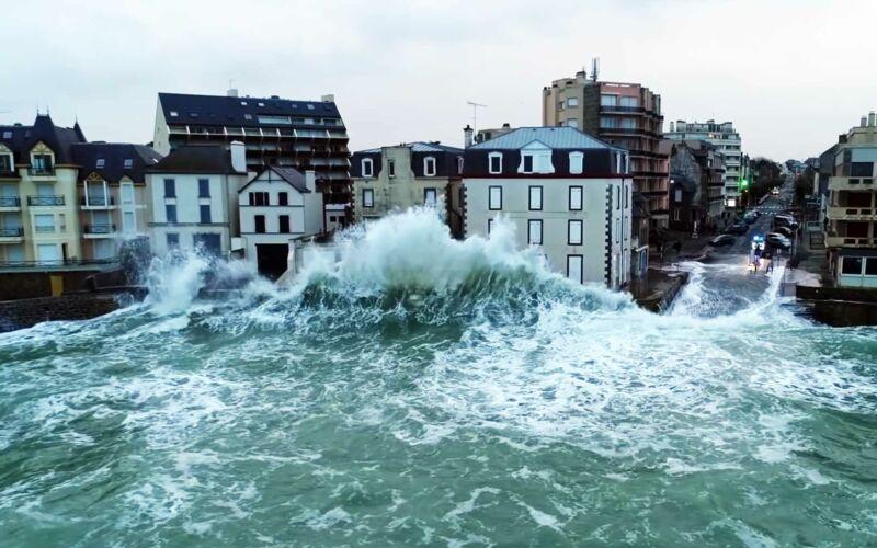 Die Schönheit der Saint-Malo'schen Küstenwellen