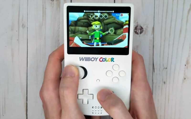 The Wiiboy Color: Nintendo-Konsole im Game-Boy-Handheld-Format
