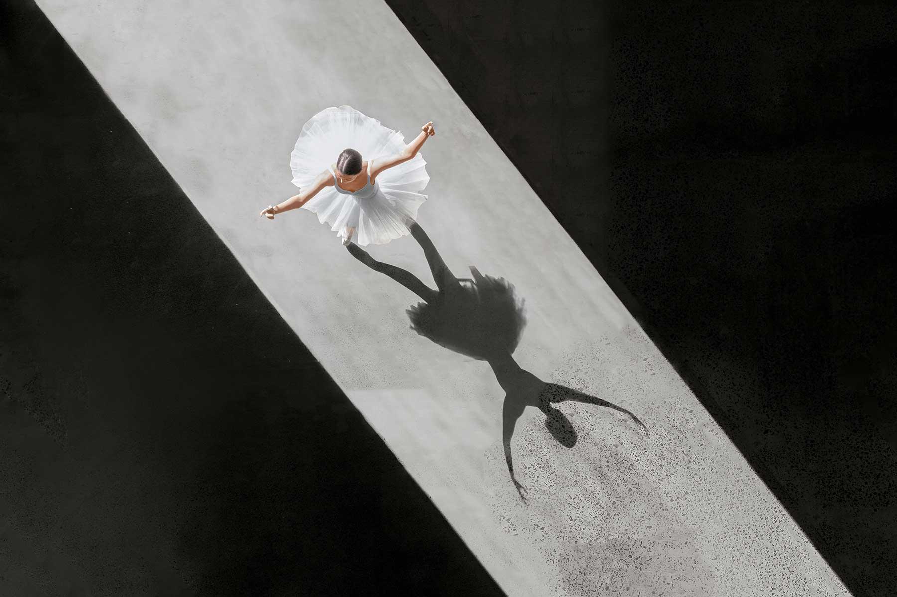 Ballerina-Luftaufnahmen von Brad Walls
