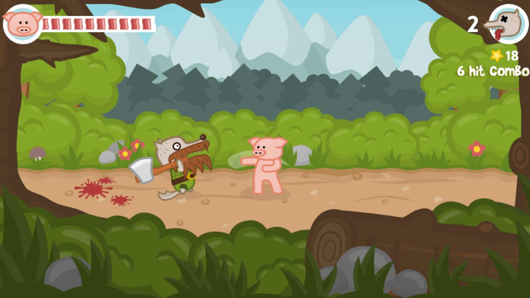 """Verkloppt böse Wölfe im Browserspiel """"Iron Snout"""""""