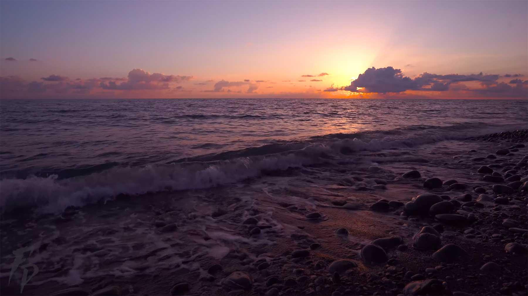 8 Stunden Meeresrauschen bei Sonnenuntergang