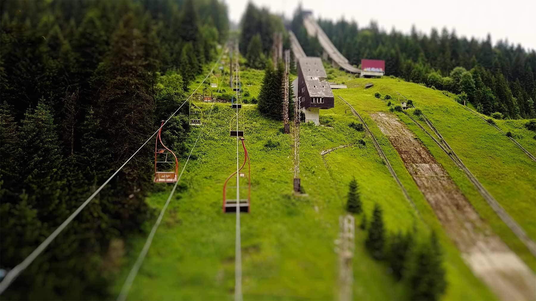 Tilt-Shift: Abandoned Olympic Ruins in Sarajevo