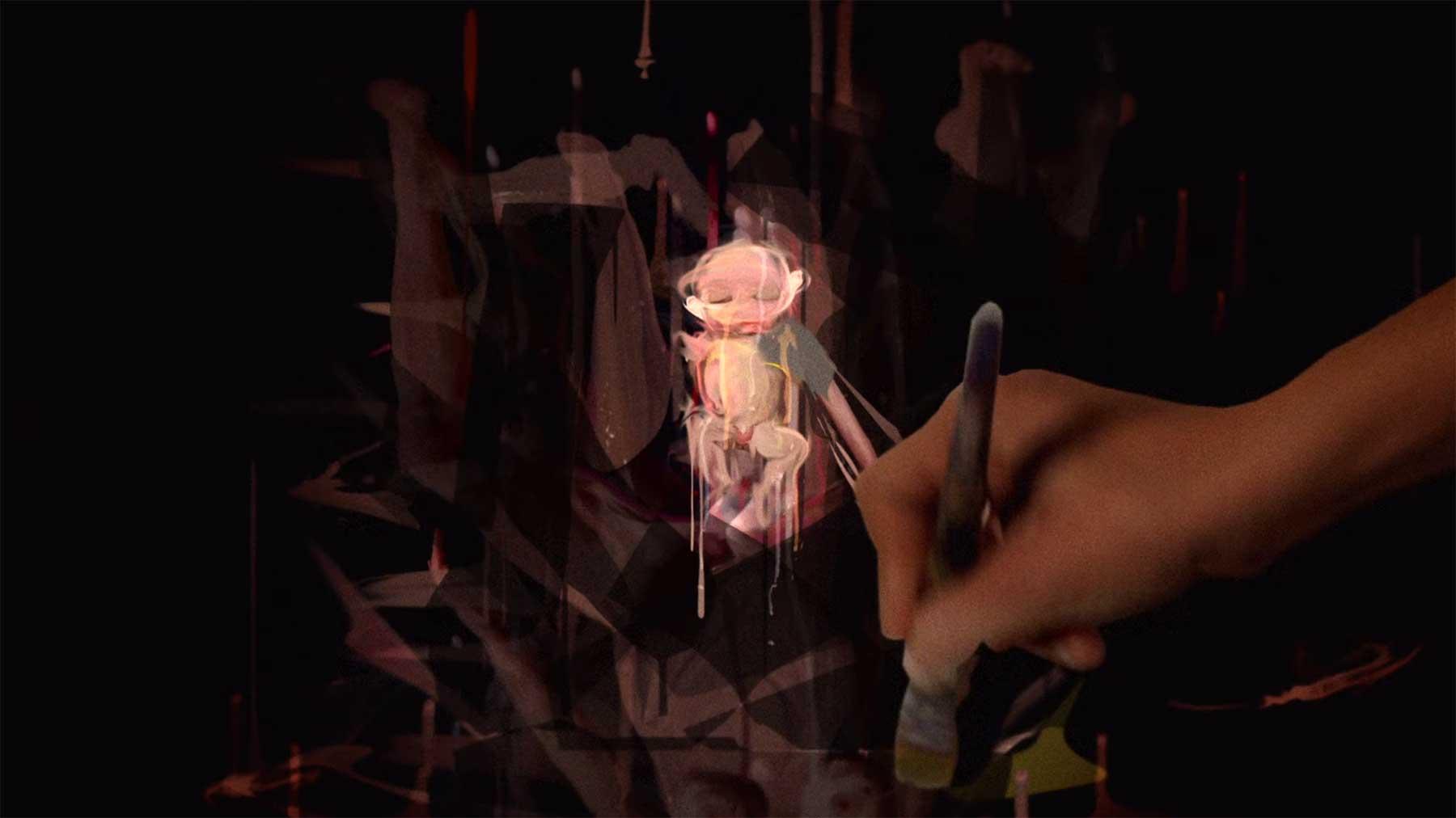 "Pinselstrich-Animation ""BAVURE"""