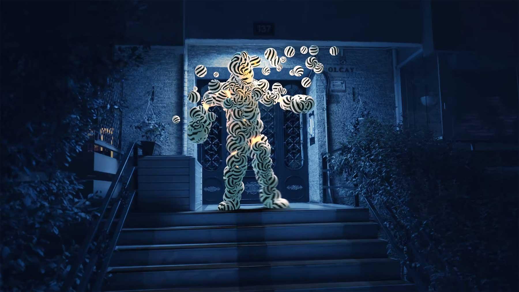 Tanzende CGI-Figuren Hurri-Mitanni-dance-cgi