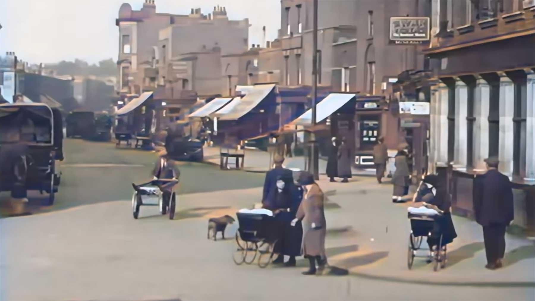 Videoaufnahmen von London im Jahr 1924