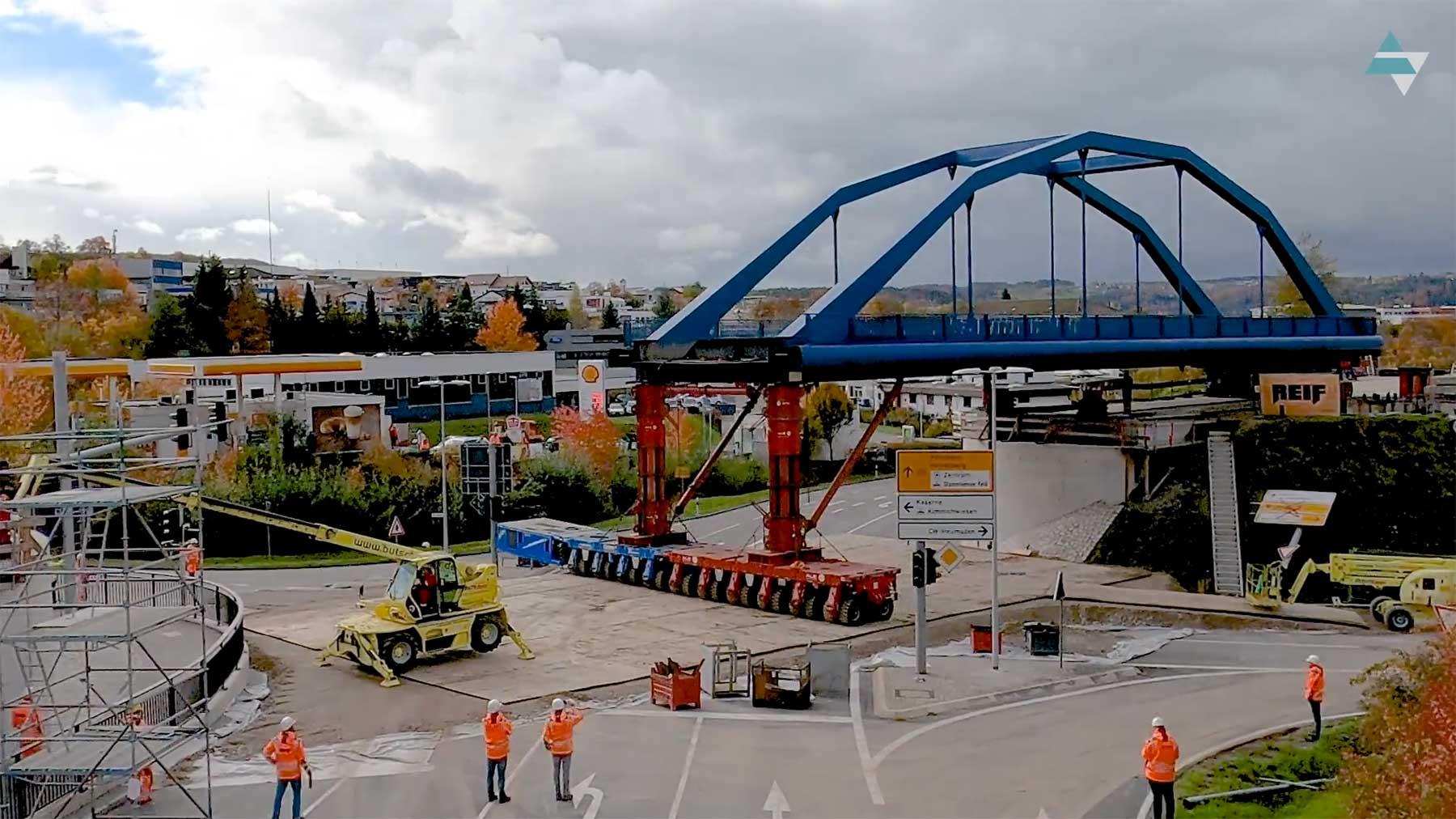 Bahnbrückenversatz-Zeitraffervideo