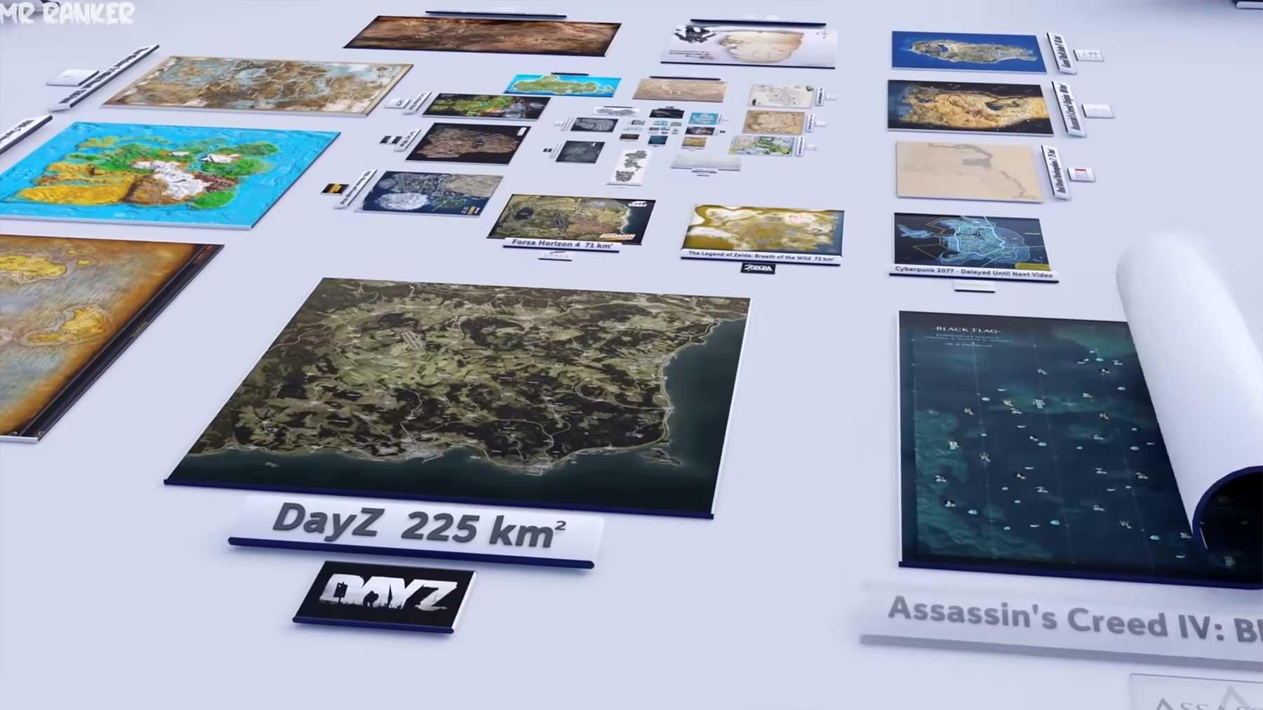 Maps aus Videospielen nach Größe sortiert (2020er Update)